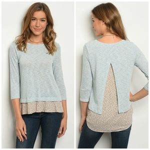 3 FOR $40 • Layered Look Pullover Top